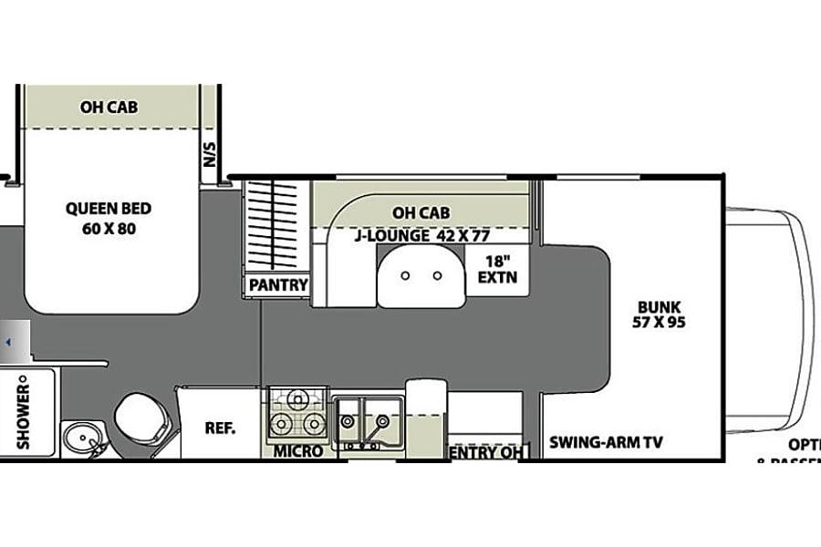 floorplan 2018 Coachmen Freelander 21 RS Santa Clara, CA