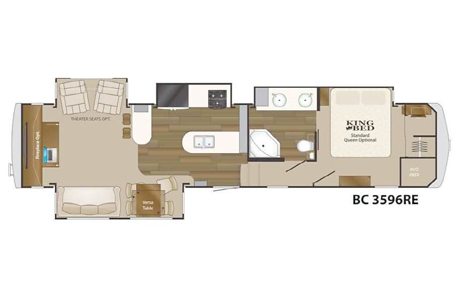 "floorplan ""Basecamp"" Big Country luxury 5th Wheel Buda, TX"