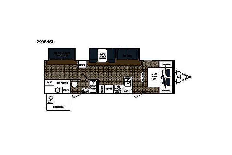 floorplan 2018 Dutchmen Kodiak Ultra Lite Hyde Park, NY