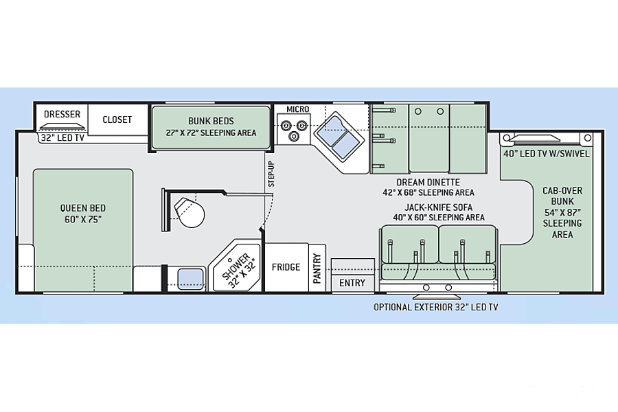 az floorplan 2017 ace 30 2 bunk house in mesa gilbert,