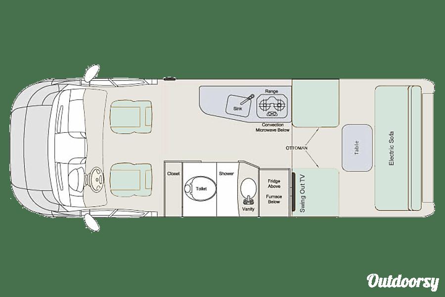 floorplan Venturer Van (2018-2019) Oro Medonte, ON