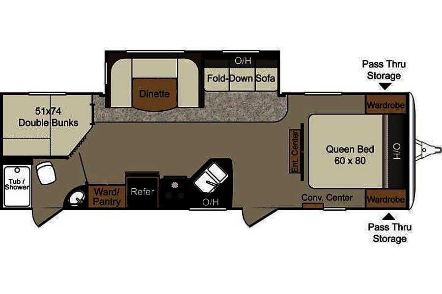 floorplan 2015 Keystone Passport Colorado Springs, CO
