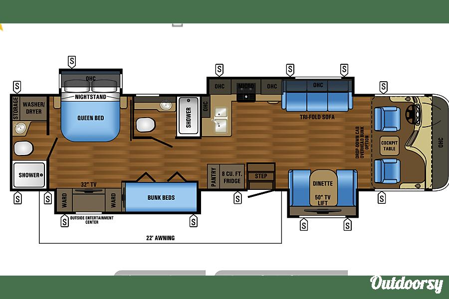 floorplan 2017 Jayco Precept Murfreesboro, TN