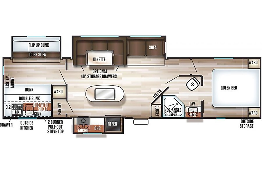 floorplan Winona our 2017 Forest River Cherokee Las Vegas, NV