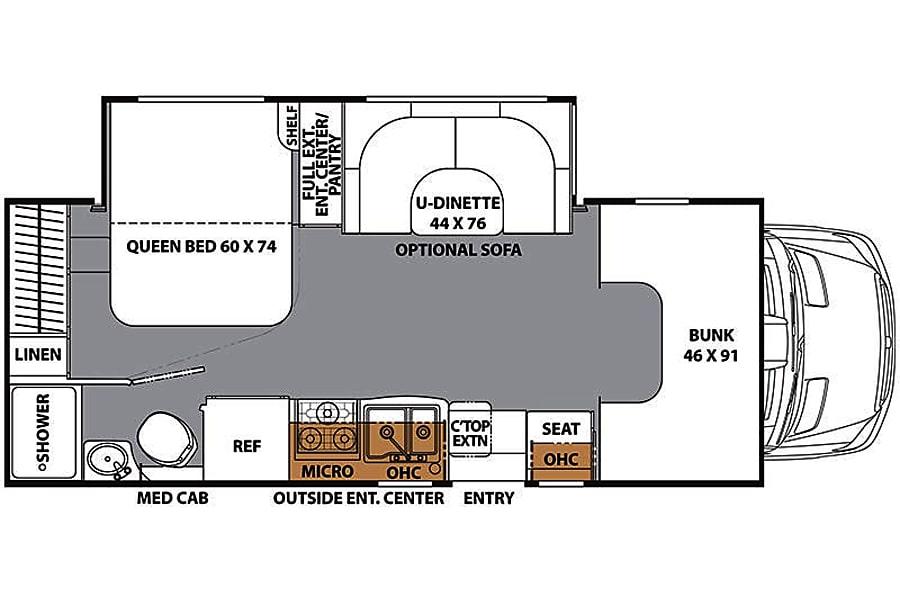 floorplan 2017 Mercedes-Benz Sprinter Prism(AUS) (Unlimited Mileage, Low deposit) Austin, TX