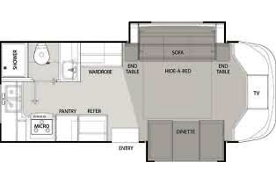 floorplan 2005 Thor - Chateau Citation Chesterland, OH