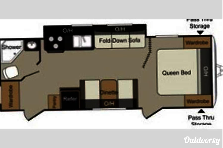 floorplan 2014 Keystone Passport Express 245RB Columbus, OH