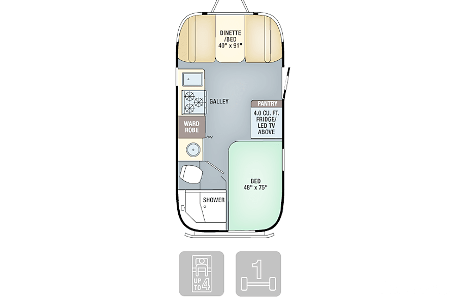 floorplan 2019 Airstream Flying Cloud Davie, FL