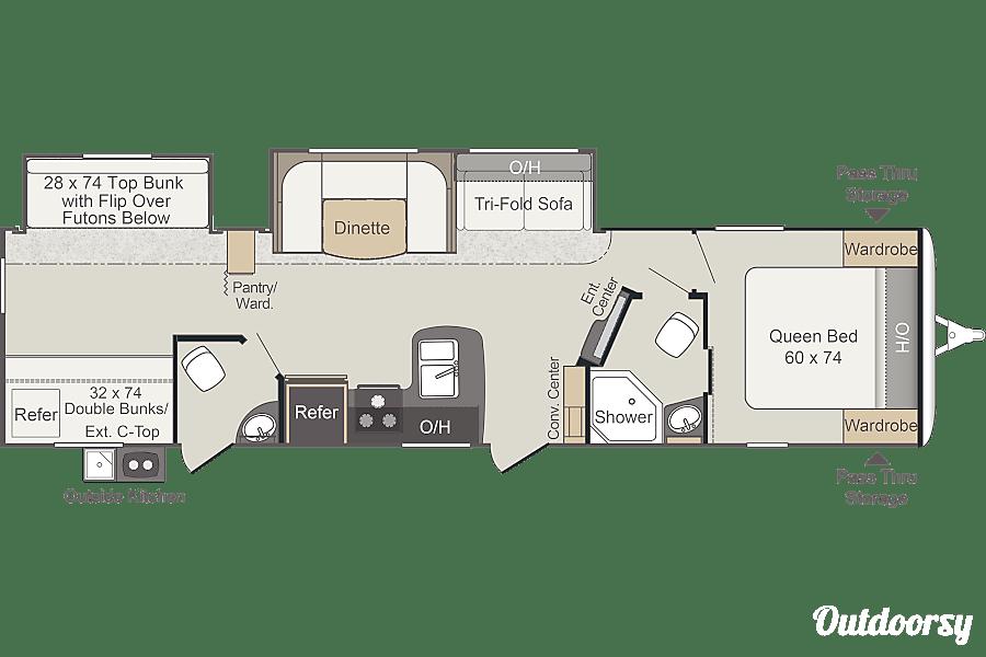floorplan 2017 Keystone Passport Tustin, CA