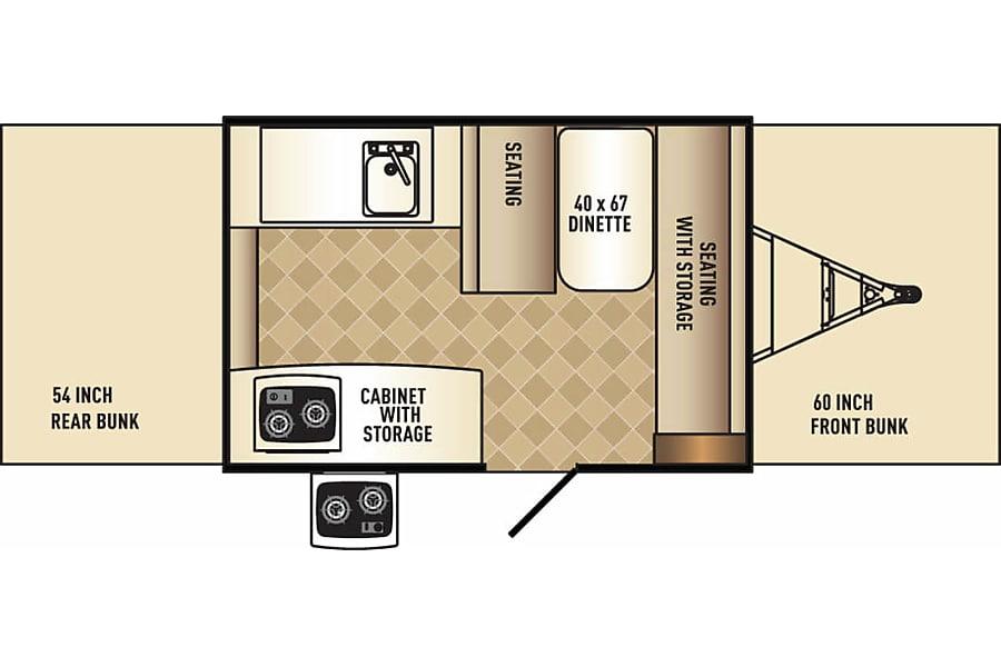 floorplan 2017 Palomino Real-Lite Popup Camper Trailer Mississauga, ON