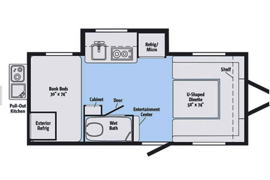 floorplan 2018 Winnebago Minnie Winnie Jacksonville, FL