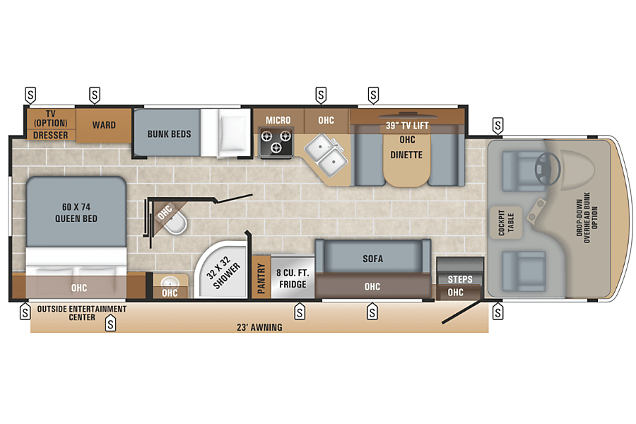 floorplan 2019 Jayco Alante 29f WITH BUNK HOUSE!!!! Medina, OH