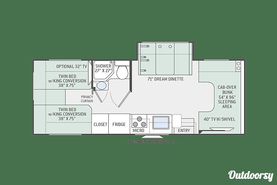 floorplan RV 04: 2020 Thor Chateau 25V Herndon, VA