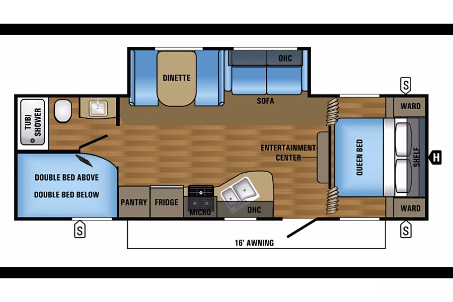 floorplan 2018 Jayco Jay Flight (Free Local Delivery/Pickup) Tucson, AZ