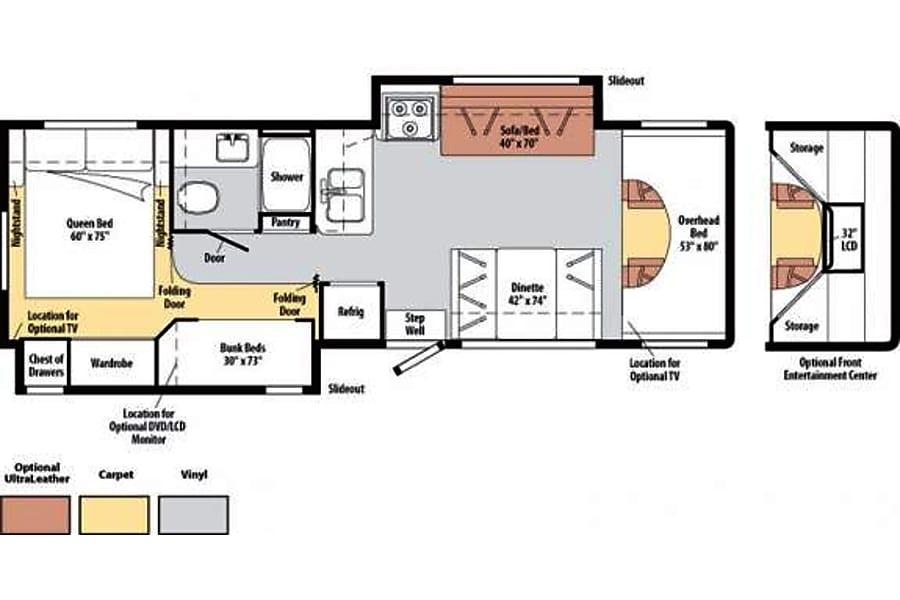 floorplan 2010 Winnebago Access Bellevue, NE