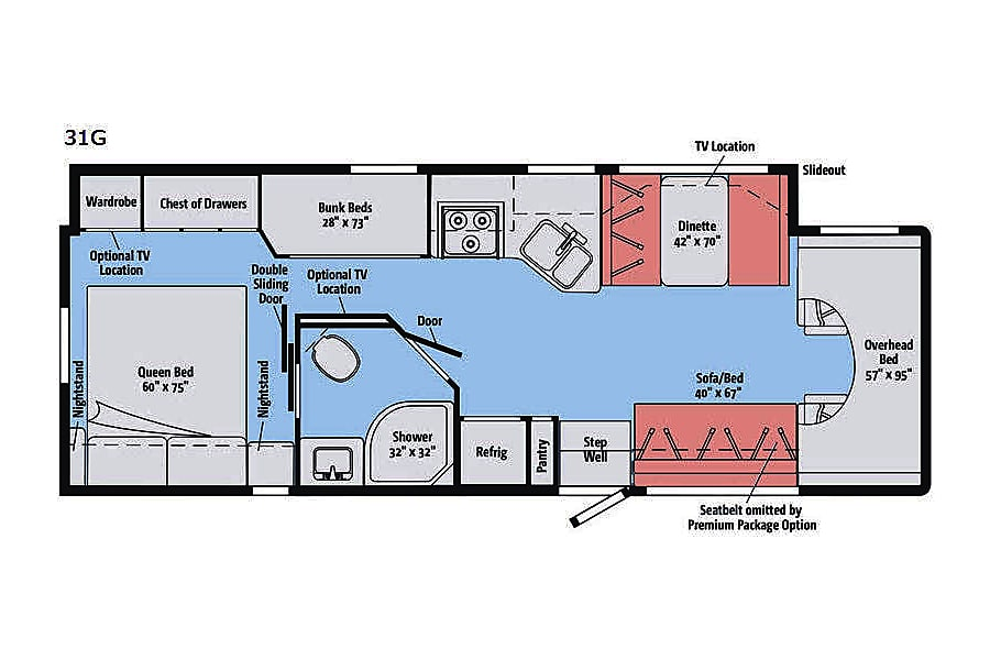 floorplan RV 20: 2019 Winnebago Minnie Winnie 31G Herndon, VA