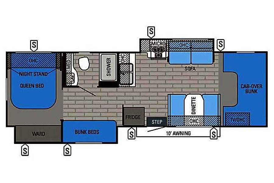 floorplan 2016 Jayco Greyhawk Castle Rock, CO