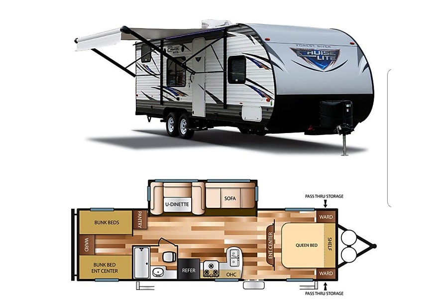 floorplan 2017 Forest River Salem Cruise Lite La Sal, UT
