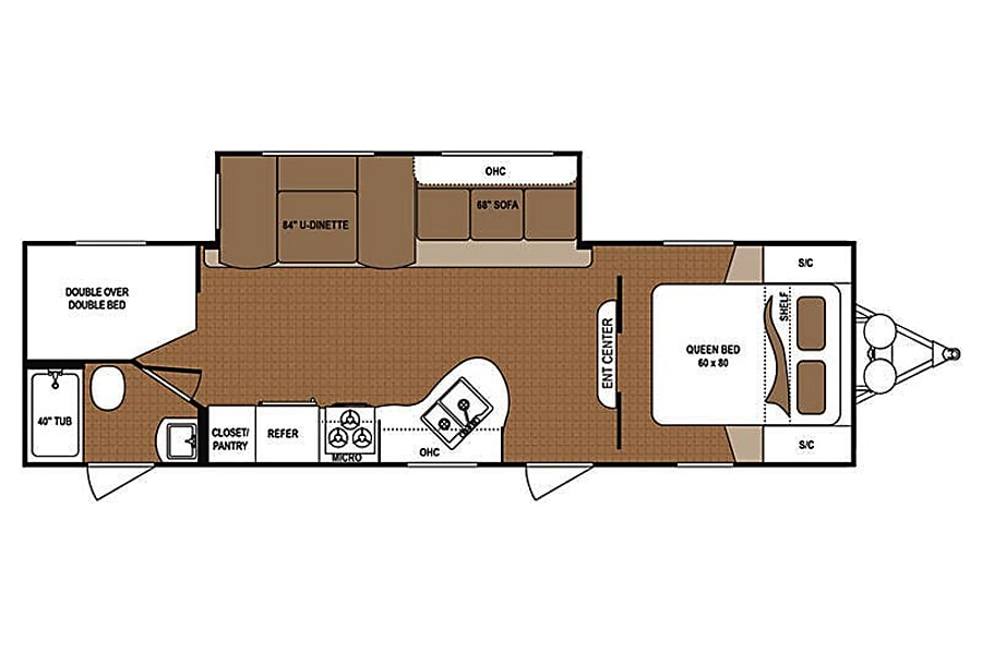floorplan ML09 Keystone Aspen Trail 2810BHS Moses Lake, WA