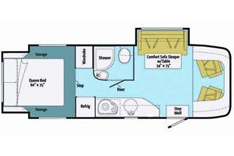 floorplan 2013 Itasca Navion Westminster, CO
