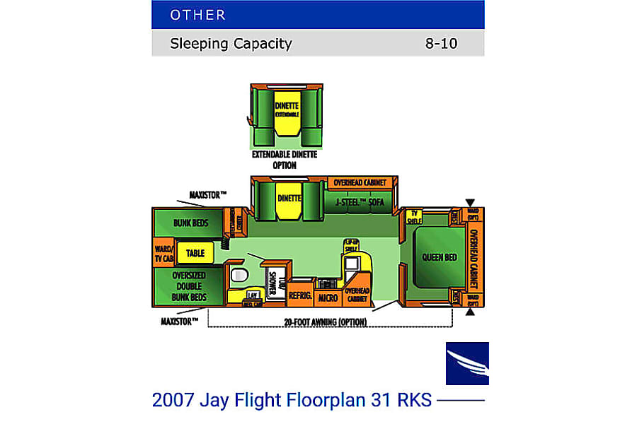floorplan 2007 Jayco Jay Flight Milford, NH