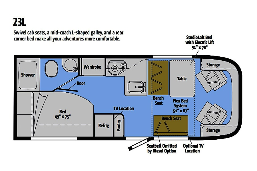 floorplan 2016 Winnebago Trend --> Diesel Salt Lake City, UT
