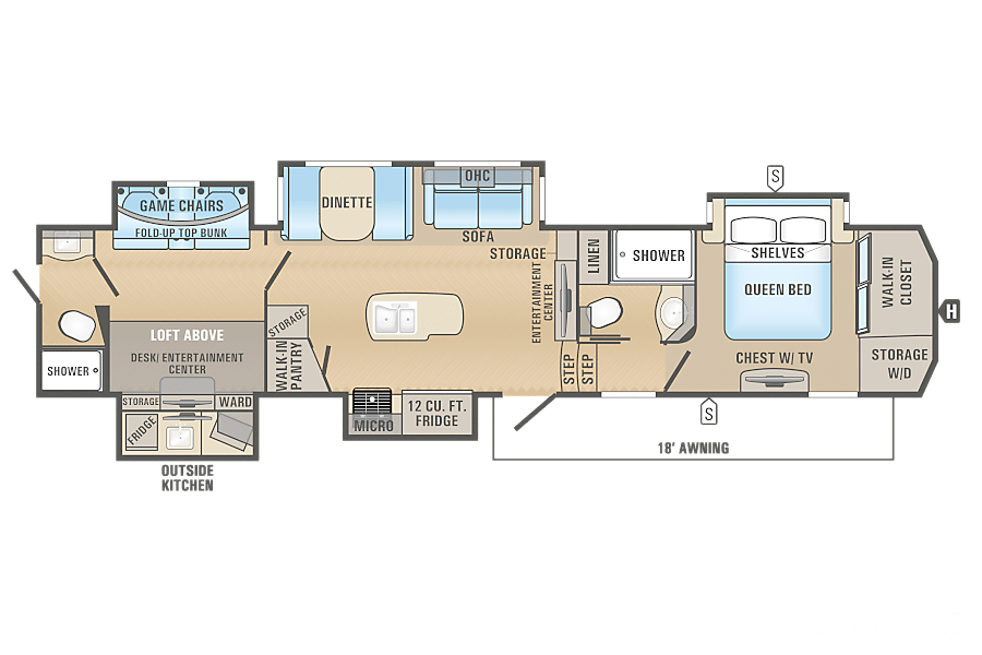 floorplan 2017 Jayco North Point Clarence Rockland, ON