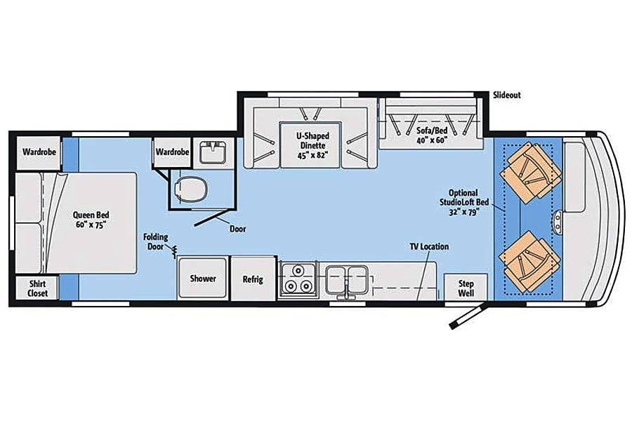 floorplan SEPTEMBER BOOKINGS SPECIAL!!!  2016 Winnebago Vista Whitby, ON