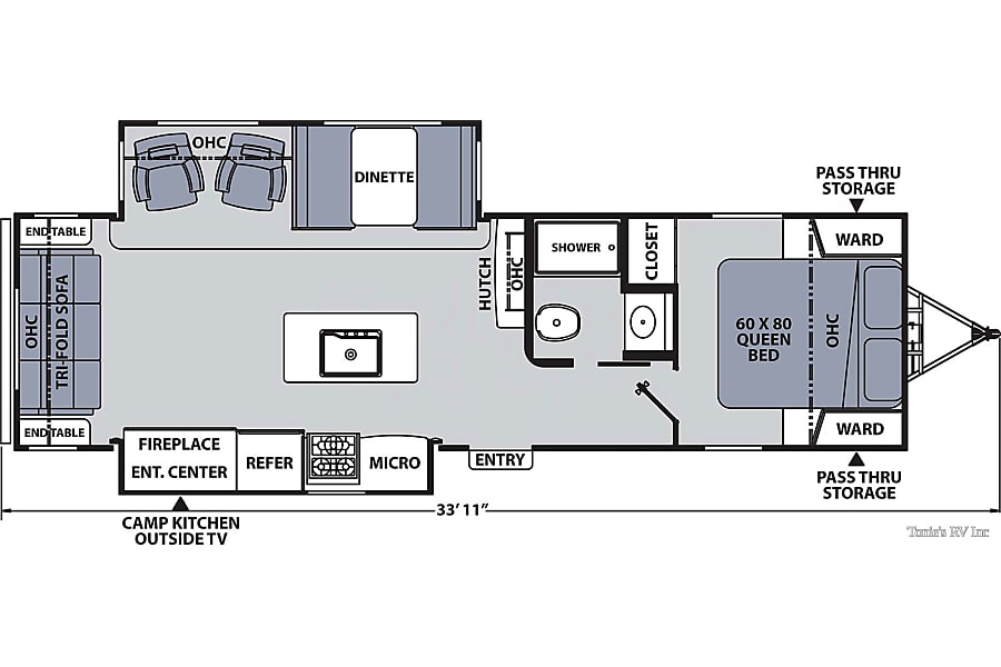floorplan RV 33: Coachmen Apex Ultra-Lite 293RLDS Herndon, VA