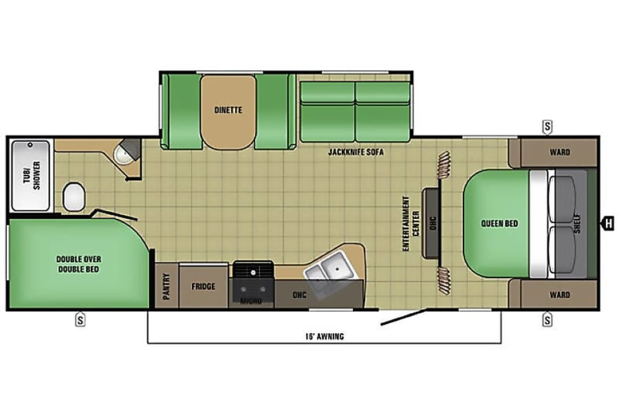 floorplan Coyote Destinations- Starcraft AR-1 Maxx 27BHs Richmond, TX Richmond, TX