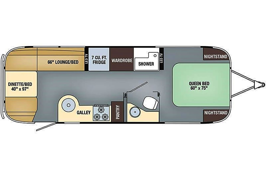 floorplan 2018 Airstream Flying Cloud - Ask about Delivery! Parker, CO
