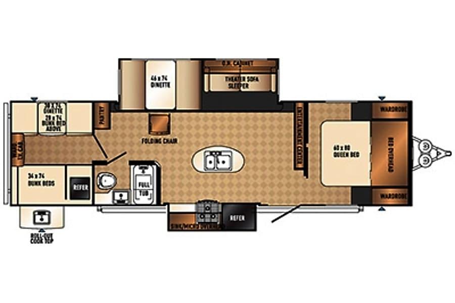 floorplan 2015 Palomino Solaire Ultra Lite DeLand, FL