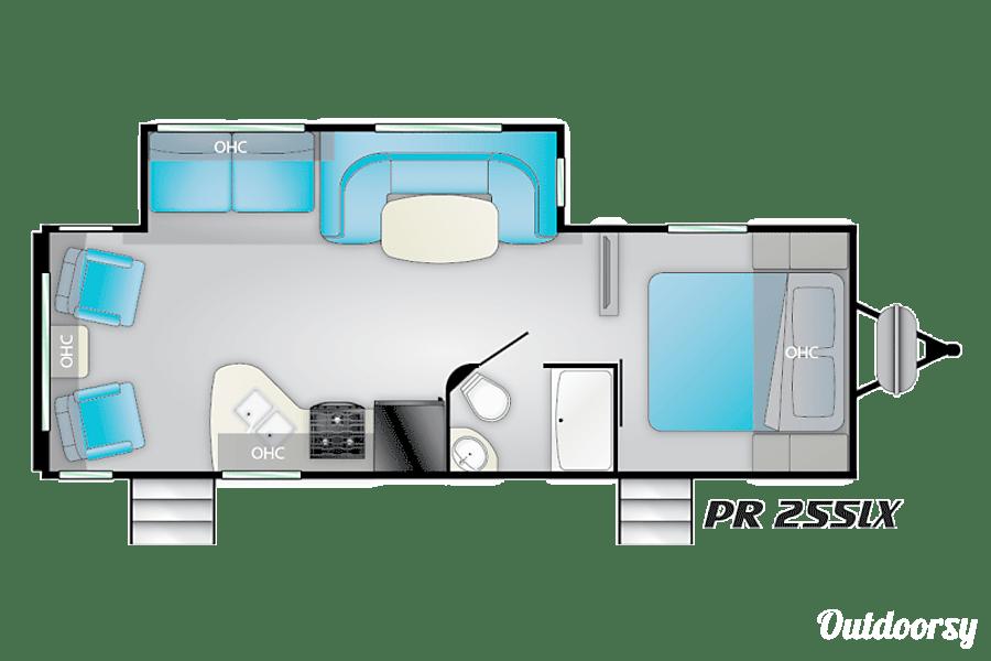 floorplan 2017 Heartland Prowler Lynx 255LX Linwood, MN