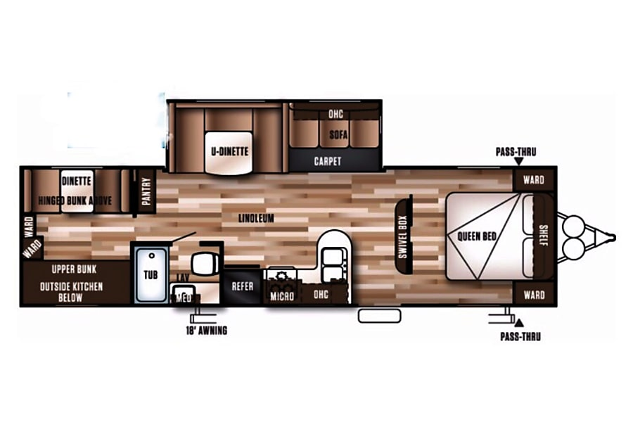 floorplan 2016 Forest River Wildwood 30KQBSS East Quogue, NY