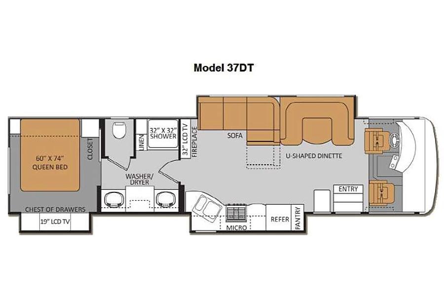 floorplan 2013 Thor Motor Coach Challenger Statham, GA