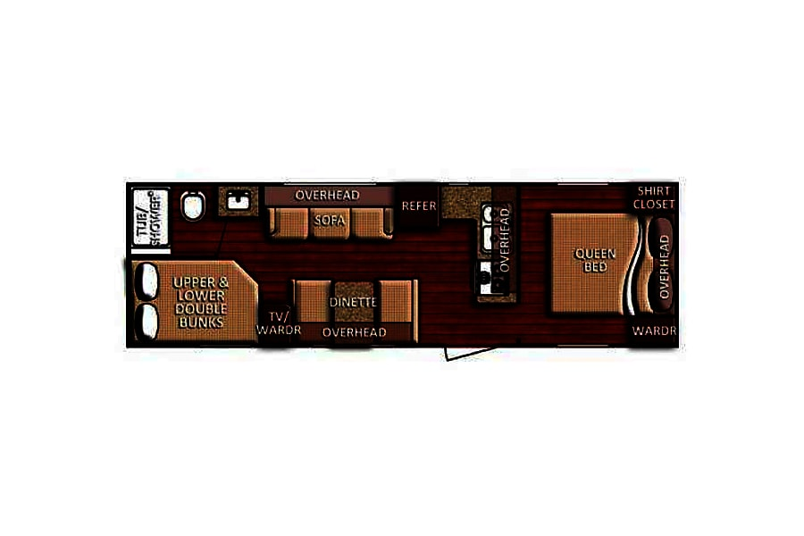 floorplan 2019 Gulf Stream Conquest ---Winter Special, $80/night--- Oklahoma City, OK