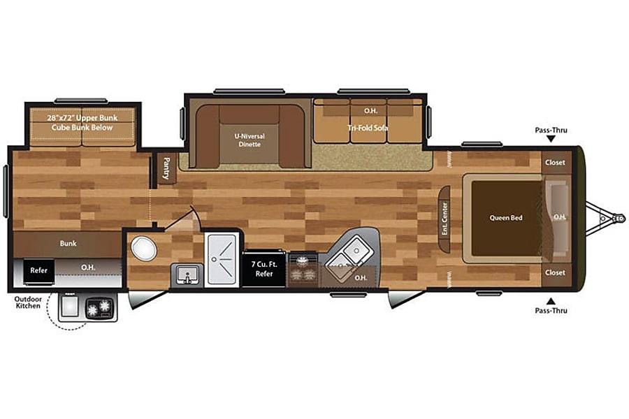 floorplan C1 Keystone Hideout 31BHDSWE MOSES LAKE, WA
