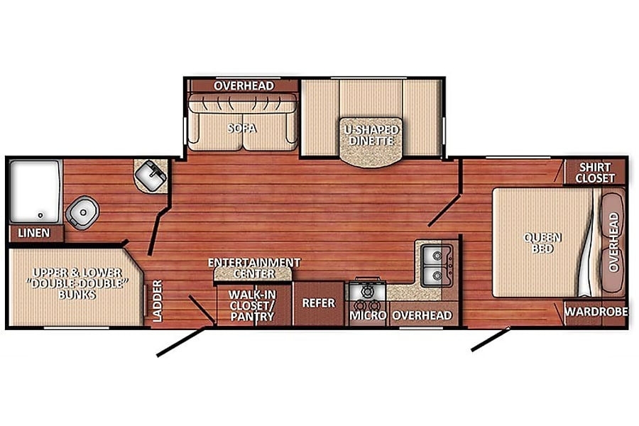 floorplan 2019 Gulf Stream Innsbruck SWARTZ CREEK, MI