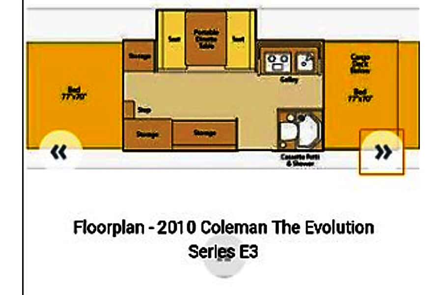 floorplan 2010 Coleman E3 Aurora, CO