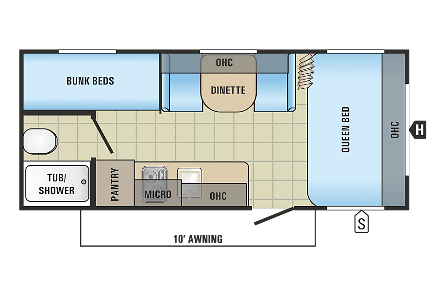 floorplan 2017 Jayco Jay Flight Swift Ottawa, ON