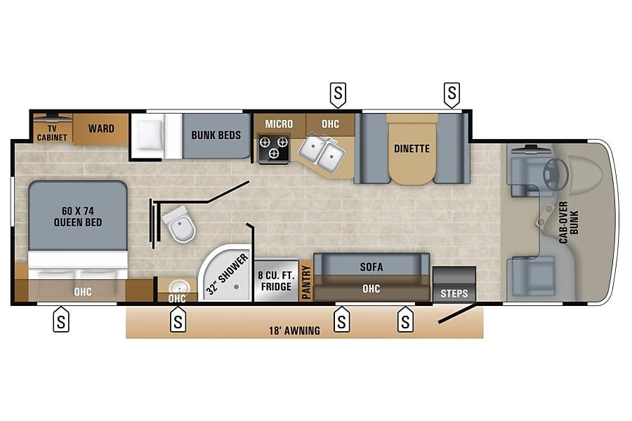 floorplan 2019 Jayco Greyhawk Austin, TX