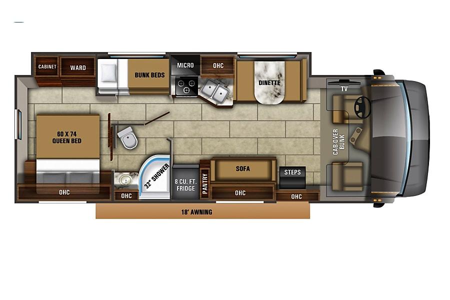"floorplan 2020 Jayco Redhawk 'Bunkhouse"" Yucaipa, CA"