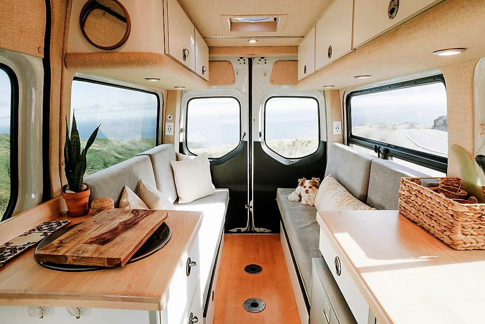 Interior of Sprinter Campervan