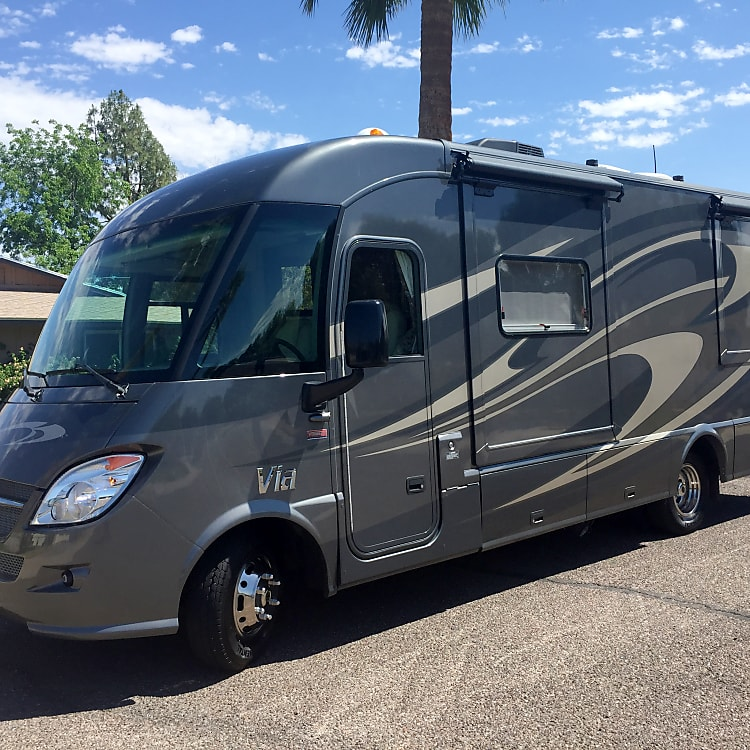Our RV is the perfect coach to cruise to the ocean