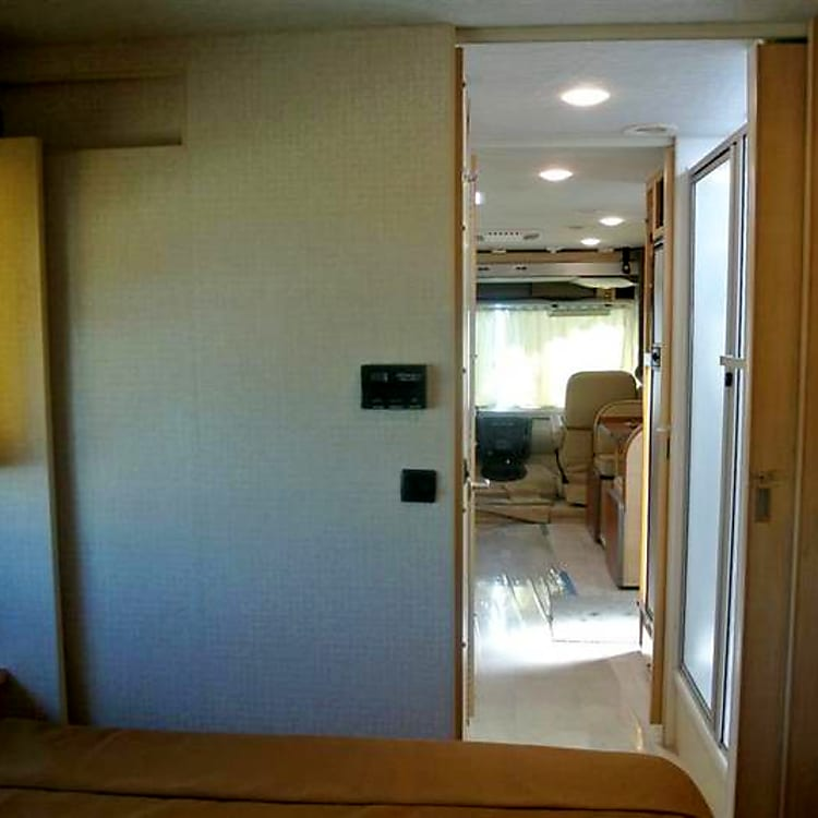Master Bedroom to the front of the RV