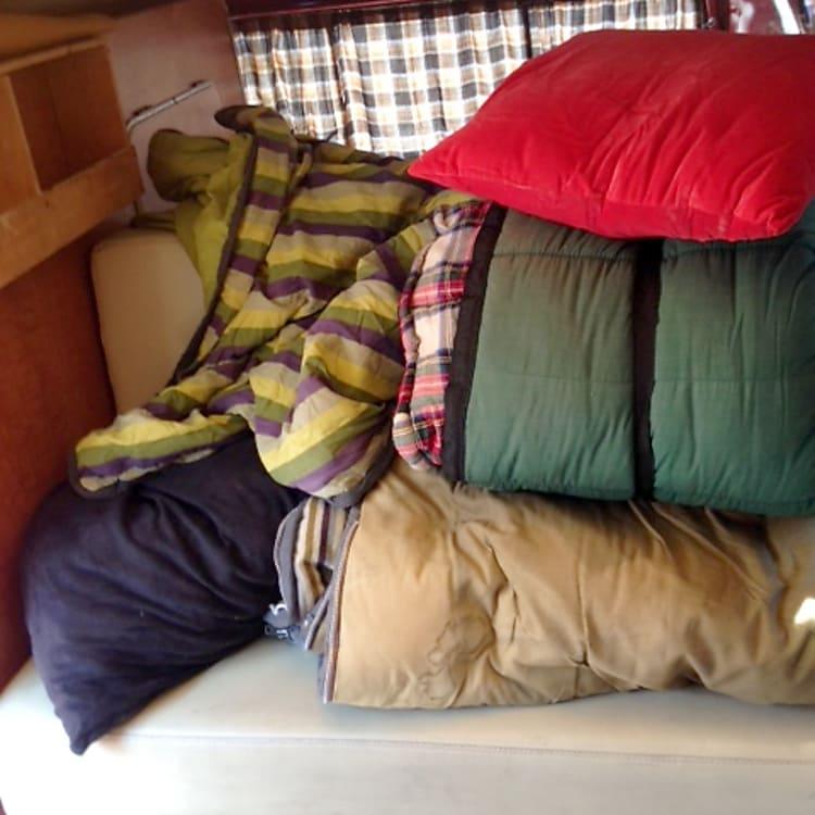 plenty of sleeping bags