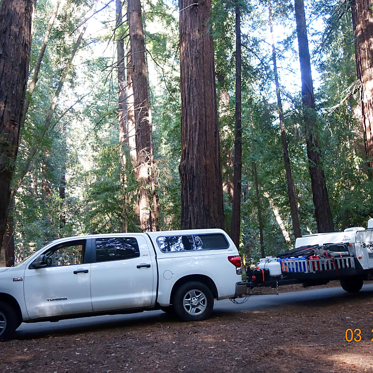 Pulling up to our site in Pfeiffer Big Sur State Park