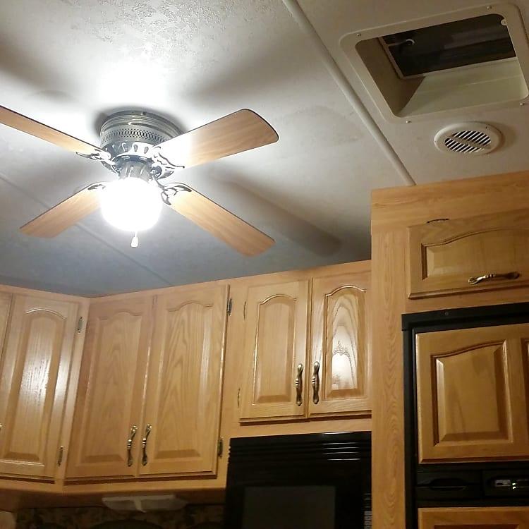 Storage and kitchen fan