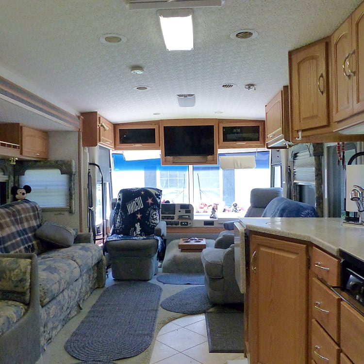 Looking from kitchen toward front of RV with slide out.
