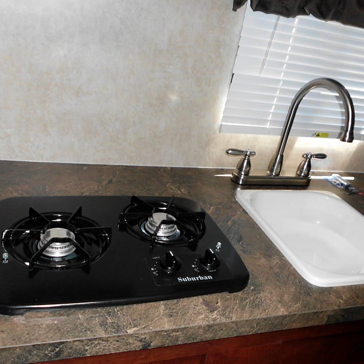 Stove top and sink